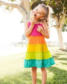 Tiered Knit Sundress - Girls