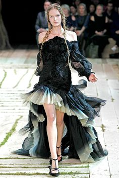 McQueen Goth Gown by Sarah Burton (1st collection) | From a collection of rare vintage evening dresses at http://www.1stdibs.com/fashion/clothing/evening-dresses/