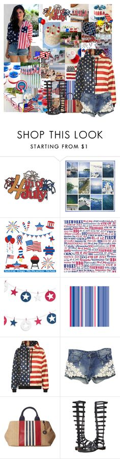 """4 Days B4 The 4th!"" by cheyenne-muter ❤ liked on Polyvore featuring Disney, WithChic, Tommy Hilfiger, Stuart Weitzman, redwhiteandblue, 4thofjuly, plans and happybirthdayamerica"