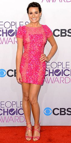 Red Carpet Fashion At The 2013 People's Choice Awards. Lea Michelle in Elie Saab.