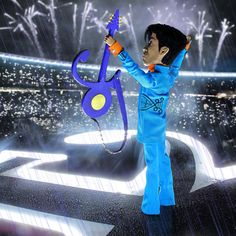 Prince puppet performing during the 2007 Super Bowl Halftime show <3