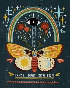 Trust Your Intuition Framed Art Print by Asja Boros - Conservation Walnut - LARGE Wal Art, Posca Art, Hippie Art, Mandala Art, Trust Yourself, Wall Collage, Artsy Fartsy, Art Inspo, Framed Art Prints