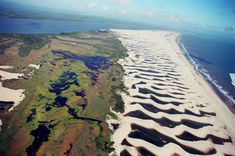 "Lençóis Maranhenses National Park in northeastern Brazil - the ""resacas"" create pools of warm water between pure white sand dunes."