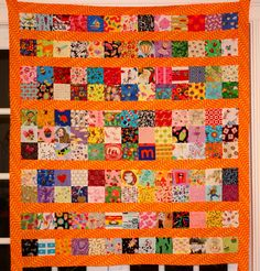 So here's my latest I Spy Quilt which will be a birthday gift for my niece.  As you can see, this time I separated the blocks into rows.   ...