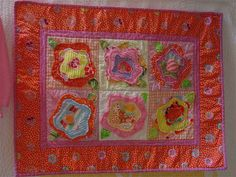 french rose baby quilt