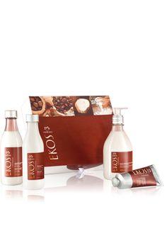 REGALO ESPECIAL DIA DE LA MADRE contiene 4 productos y una caja contenedora exclusiva. Exquisitos productos natura ekos castaña ,con el perfume a las mismas ,y con el poder de dejar tu piel suave e hidratada.de todo tu cuerpo