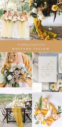 Top Wedding Color Trends for 2020 Bright Wedding Colors, Blush Wedding Colors, Wedding Color Pallet, Spring Wedding Colors, Wedding Color Schemes, Light Yellow Weddings, Emerald Green Weddings, Pink Weddings, Mustard Yellow Wedding