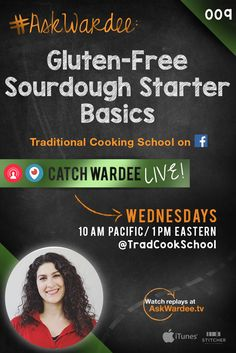 "#AskWardee 009: Gluten-Free Sourdough Starter Basics | ""Tell me more about feeding and using a gluten-free sourdough starter!"" asks Sophia N. on today's #AskWardee. Yes, the process is very similar for feeding a gluten-free sourdough starter. Here are some tips and resources to get you started! 