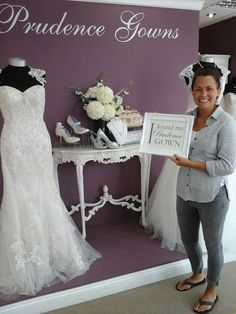 Our new Stef found her in our store today. Prudence Gowns, Plymouth, Brides, Store, Wedding Dresses, Fashion, Bride Dresses, Moda, Tent
