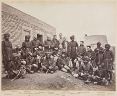 Officers and men of the 3rd Sikhs taken near Jalalabad in Afghanistan by John Burke in 1878.