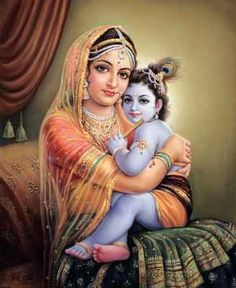 Baby Krishna and his mom