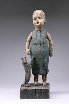Girl with Cat by Margaret Keelan.