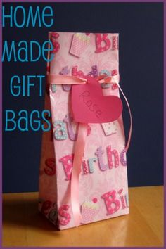 Easy homemade gift bag / party bag - you can make them any colour / theme / size to suit your party