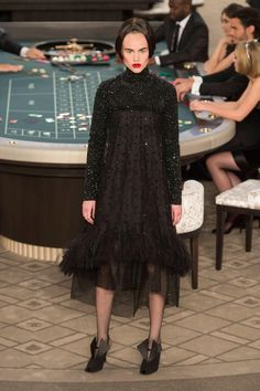 Karl Lagerfeld Brought Chanel Couture to the Casino for Fall 2015 - Fashionista
