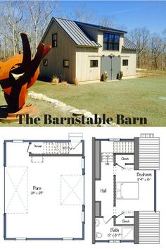 The 23' x 29' Barnstable Barn is suitable for a number of uses, including storage & guest space (as shown here), small barn living, or a mother-in-law suite. The possibilities are endless! Visit for more ideas. #barnhomes