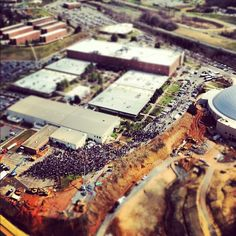 Aerial view during the groundbreaking ceremony