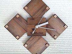 ブラックウォールナット 手作り時計