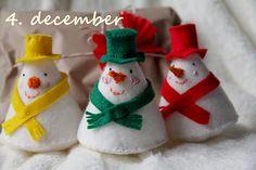 cute felt snowmen