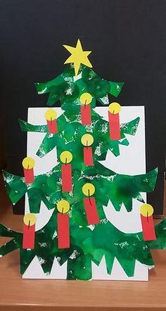 Stromeček- vánoční přání na poličku
