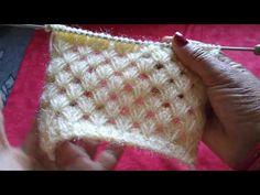 New knitting design pattern Knitting Stiches, Easy Knitting Patterns, Knitting Videos, Lace Knitting, Knitting Designs, Crochet Stitches, Crochet Patterns, Tunisian Crochet, Knit Crochet