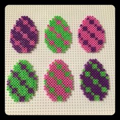 Easter eggs hama mini beads by  pysslomanen