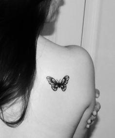 My b&w butterfly tattoo