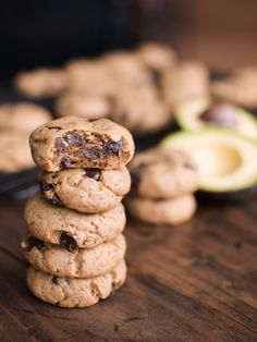 Vegan Avocado and Peanut Butter Cookies from Veggie and the Beast