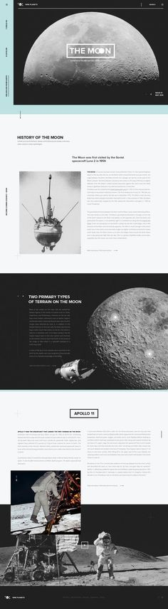 space themed editorial layout