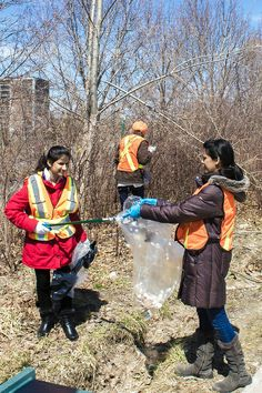 Centennial College staff and students went outside to pick up litter from our campus properties, joining the city-wide program called Clean Toronto Together.