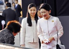 imperialfamilyofjapan:  Princess Kiko and her younger daughter Princess Kako attended the opening of the Tokyo International Great Quilt Festival 2015, January 22, 2015