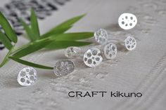 れんこん-pierce- by CRAFT kikuno, Japan http://www.craftkikuno.com http://www.facebook.com/CRAFTkikuno/