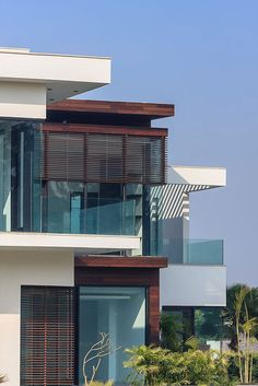 This contemporary residence by DADA & Partners is a 2011 project that is located in the Chattarpur area of New Delhi, India.