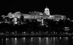 Buda Castle at night. Budapest, Hungary.