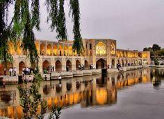 Beautiful Photographs of Khaju Bridge, Isfahan, Iran