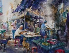 Coffee Time | Watercolor by Ng Woon Lam