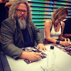 Mark Boone Junior at the booth signing autographs. ##SDCC #SOA