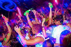 Neon paint party
