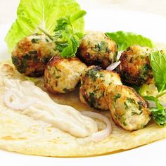 Chicken Malai Meatballs  by Tes at home via tesathome.com...   These look like the meatballs at Moza in Cambridge.