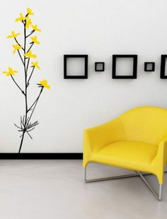 living room wall design ideas yellow color