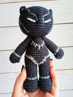 Black Panther crochet pattern Amigurumi superhero Marvel
