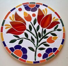 mosaico mandala flores Mosaic Tray, Mosaic Tile Art, Mosaic Pots, Mosaic Crafts, Mosaic Projects, Stained Glass Projects, Stained Glass Patterns, Mosaic Patterns, Mosaic Glass