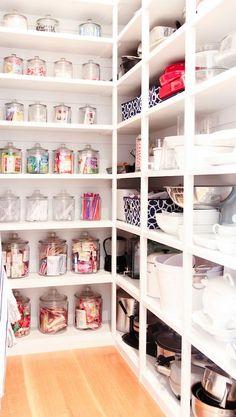 Benjamin Blackwelder Cabinetry - kitchens - walk in pantry, organized pantry, well organized pantry, paneled pantry, tongue and groove, tong...