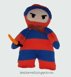 Free pattern: Ninja boy softie from a baby t-shirt · Sewing | CraftGossip.com