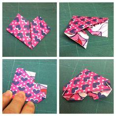 Aprenda a fazer um presentinho de Dia dos Namorados: marcador de livros com papel e dobradura. Coração de dobradura.