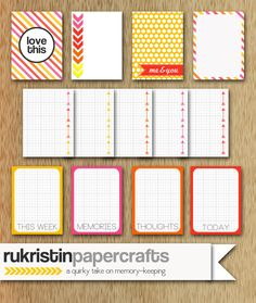 Candy Shop Journaling Cards at rukristin papercrafts