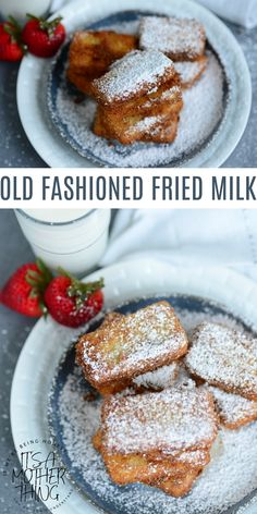 Old Fashioned Fried Milk is a beautiful Spanish dessert that is plain, simple and classic. Great for kids and families. It's so easy to make, and it's lovely paired with fruit or syrup. Mini Desserts, Elegant Desserts, Easy Desserts, Delicious Desserts, Gourmet Desserts, Plated Desserts, Milk Recipes, Sweet Recipes, Easy Recipes