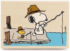 Snoopy fishing