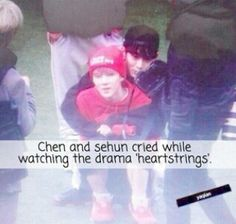 Chen and Sehun. Exo Facts, Exo Couple, Exo Korean, Exo Ot12, Exo Memes, Chinese Boy, Rap Monster, Bias Wrecker, Kpop Groups