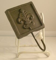 Fleur De Leis with square Cast Iron Hook by luvredford on Etsy, $9.95 Blue Brown Bathroom, Elizabeth Anne, Leis, Cast Iron, Inspire, Search, Unique Jewelry, Handmade Gifts, Vintage