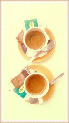 #italiancoffeesecret #piaschenk @ Kaffeehaus Schwetzingen Espresso with my old schoolfriend MatthiasGeberth talking about old times, present and future belongings: good company!